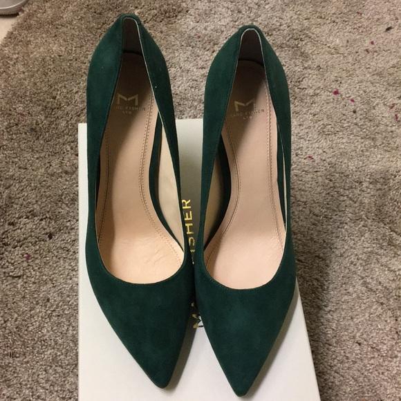 36367f7be76 Marc Fisher Jaxon Stilettos  Dark green suede S8.5